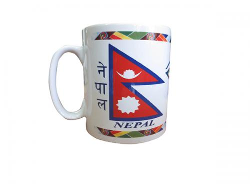 Ceramic Cups With Image Of Nepal Flag