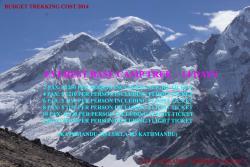 Nepal Best Trekking Cost 2014