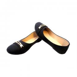 New Fashionable Black Close Shoes - ( MS-011)