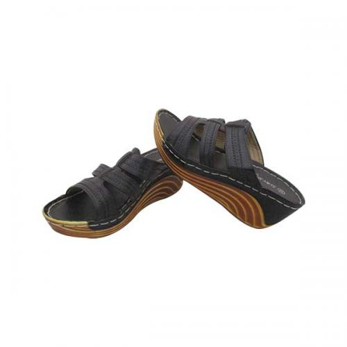 Black Wedge Heel Casual Sandal for ladies - (MS-023)