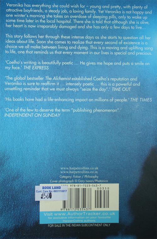 Veronika Decides to Die (Paulo Coelho)