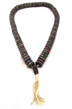Cut Yak Bone Stones Beads Mala - (NH-046)