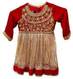Red Pashni Set - (JU-021)