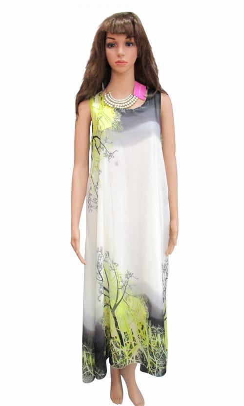 Chiffon Light Color Long Dress - (WM-002)