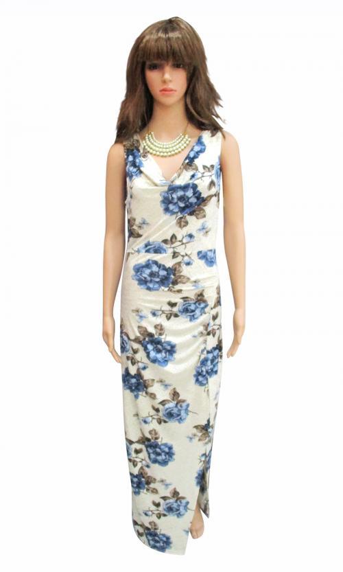 Silk Long Dress - Plus Size - (WM-003)