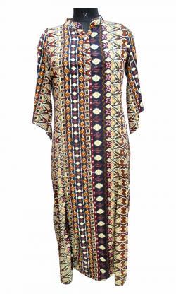 Silk Long Dress - Plus Size - (WM-004)