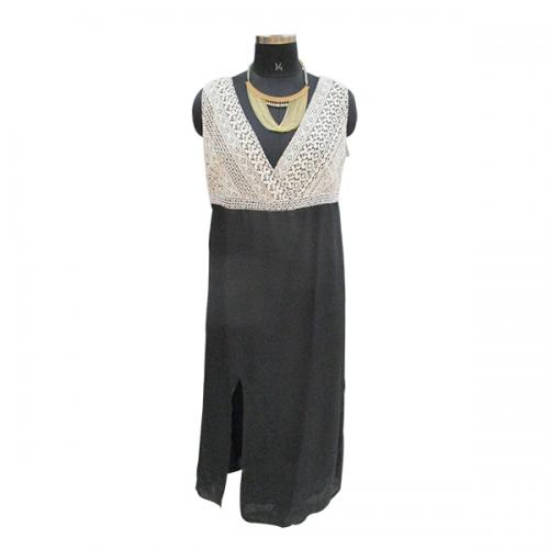 Black Georgette Kurti Style Dress - (WM-005)