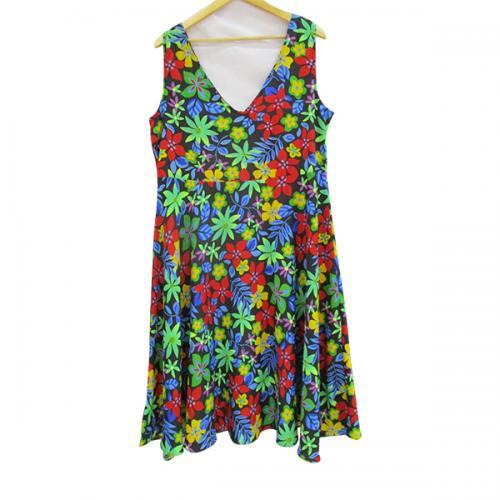 Sleeveless Floral Dress - (WM-009)
