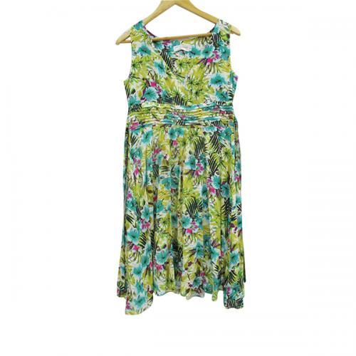 Cotton Floral Dress - Free Size - (WM-011)
