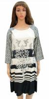 Black & White Printed Cotton Kurti - (WM-019)