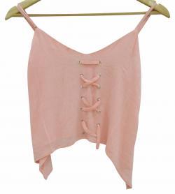 Pink Cotton Curve T-Shirt - (WM-046)