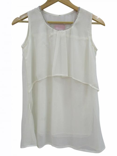 Chiffon Sleeveless T-Shirt - (WM-051)