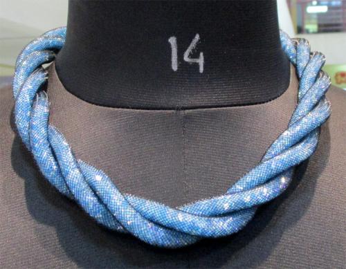 Light Blue Party Wear Necklace - (WM-054)