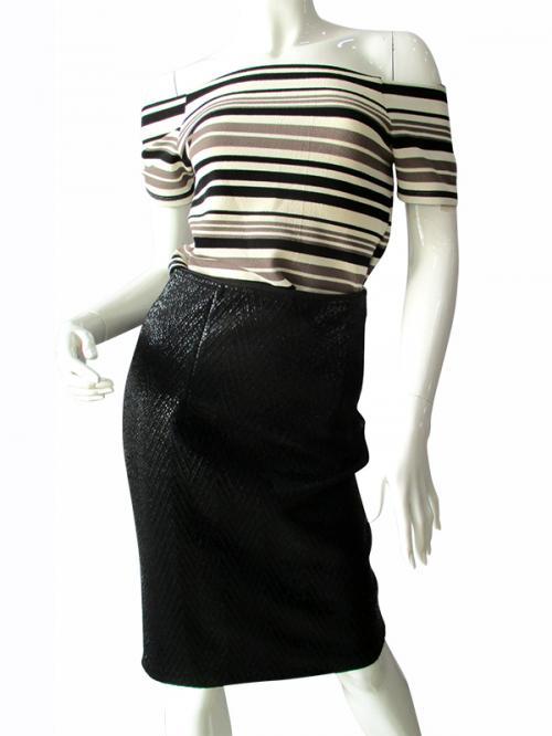 Crop Up Shoulder - High Waist Skirt - (TARA-001)
