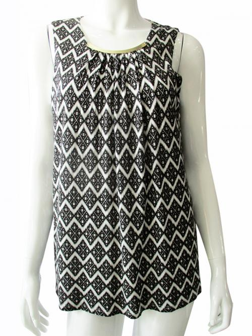 Black & White Printed Top - (TARA-011)
