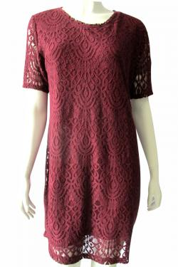 Maroon Half Sleeve One Piece - (TARA-013)