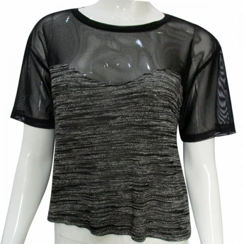 Net Black Top - (TARA-017)