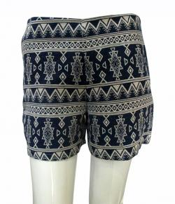 Blue Printed Half Pant - (TARA-021)