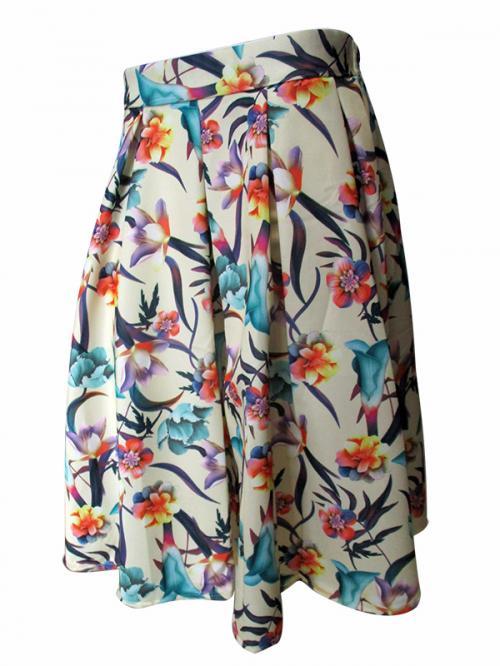 Floral Long Skirt - (TARA-025)