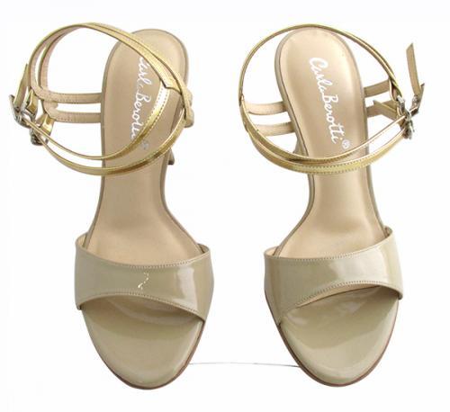 Carla Berotti Golden High Heel Shoes - (TARA-030)