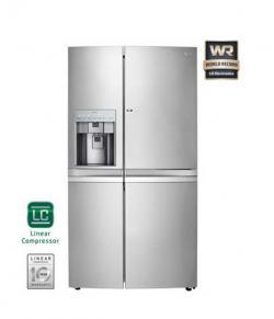 LG Side By Side Refrigerator (GR-J257WSBN) - 596 Ltr