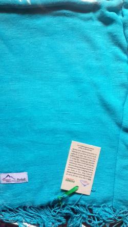 Light Blue color SILK shawl
