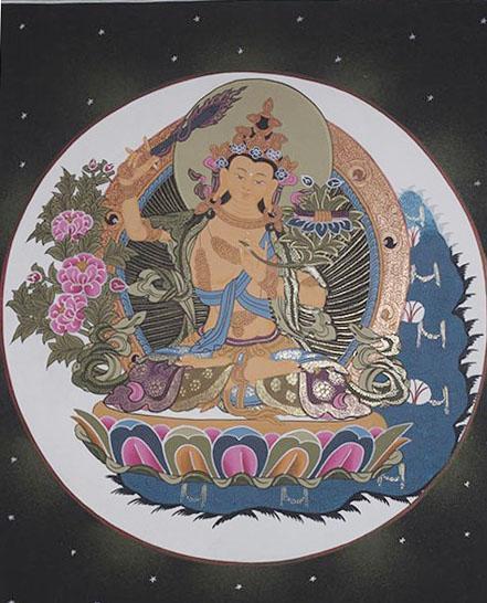 Maha Manjushree Thanka (28cmx35cm)