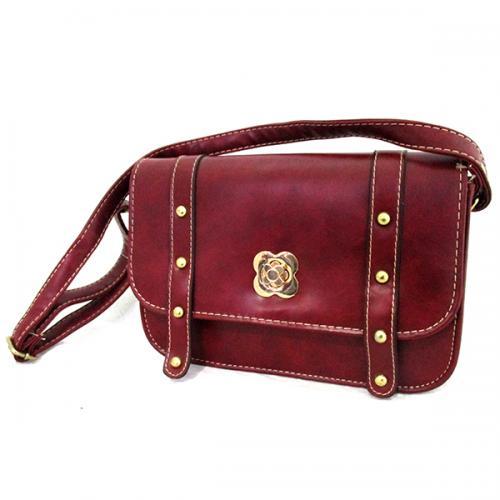 Maroon Color Side Bag For Ladies