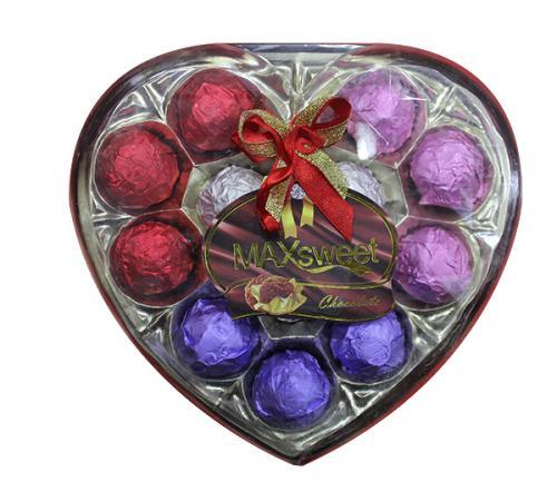 Max Sweet chocolate heart Shape 150grm