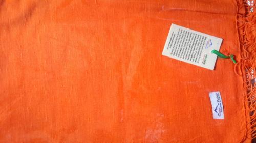 Organge color SILK shawl