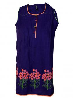 Purple Color Printed Kurti - (SARA-017)