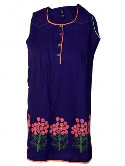Purple Color Printed Kurti - (SARA-017)