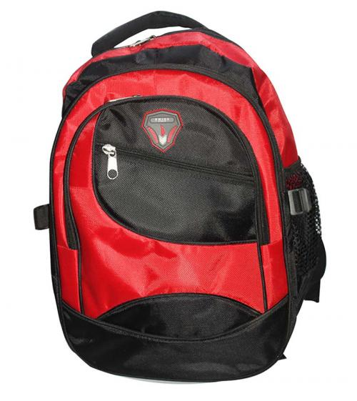 Red And Black color Mix School Bag