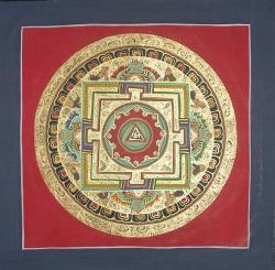Red Color Mandala (21cmx21cm)