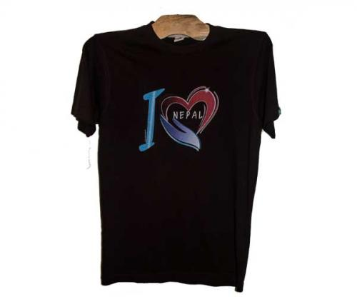Stylish I Love Nepal Printed T-Shirt