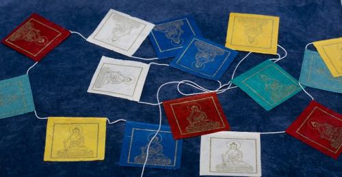 Buddha printed paper hanging decorate flag.