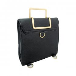 Victoria Black Hand Bag For Ladies - (LAC-032)