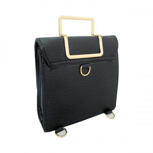 Victoria Black Hand Bag For Ladies - (LAC-032)