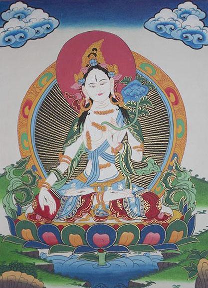 White Tara Thanka (28cmx37cm)