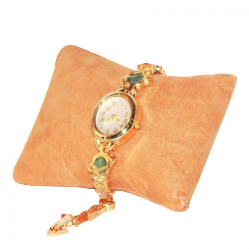 Gold Plated Pearls Studded Watch