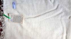 Yellowish white color SILK shawl