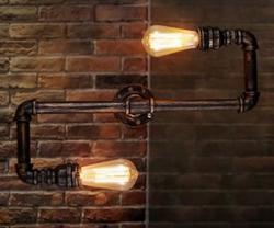 Loft Style Industrial Water Pipe Lamp Vintage Wall Light - (B-8026)