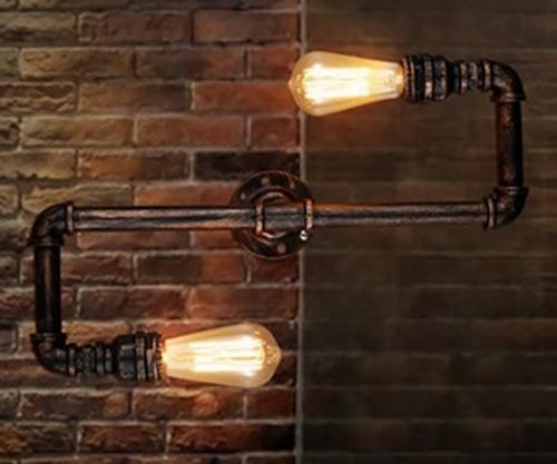 Loft Style Industrial Water Pipe Lamp Vintage Wall Light - (B-8026)