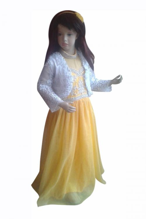 Lemon Yellow Flare & Embroidered Top - (JK-090)