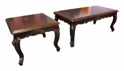 Wooden Coffee Table With Carving - 46x23 - (LS-020)