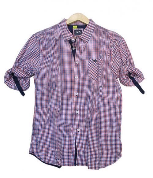 A/X Armani Check Shirt - (JP-022)