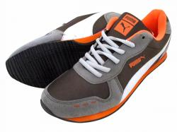 Puma Grey & Orange Sports Shoes - (JP-033)
