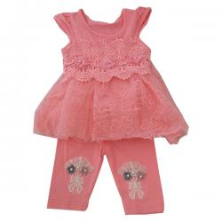 Baby Girl's 2 Piece Frock Set - (KC-003)