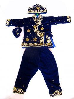 Blue Velvet Pasni Set - Free Size - (KC-004)