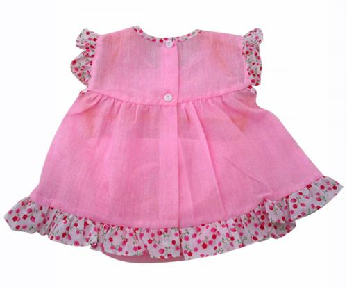 Pink Cotton Baby Frock - (KC-021)